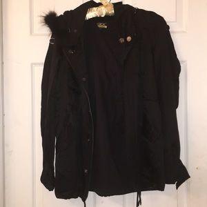 LaRok Luxury Lightweight silk & rabbit fur jacket